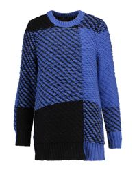 Rag & Bone - Blue Jessa Two-tone Cotton And Wool-blend Sweater - Lyst