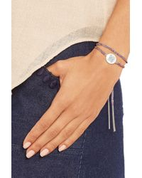Carolina Bucci - Purple Freedom Lucky 18-karat White Gold, Diamond And Silk Bracelet - Lyst