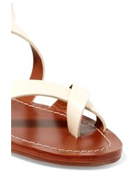 Tory Burch | White Patos Leather Sandals | Lyst