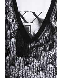McQ Alexander McQueen Layered Open-knit Wool And Printed Cotton-jersey Maxi Dress Black