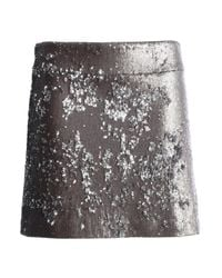Halston Heritage - Metallic Sequined Stretch-knit Mini Skirt - Lyst