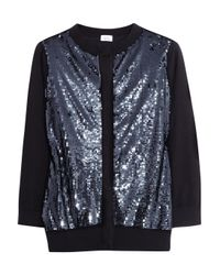 Iris & Ink - Blue Sequined Wool Cardigan - Lyst
