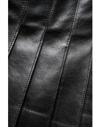 Belstaff - Black Holborne Pleated Leather Mini Skirt - Lyst