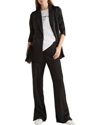 Rag & Bone - Black Abel Stretch-crepe Wide-leg Pants - Lyst