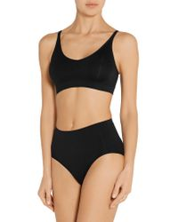 Yummie By Heather Thomson Black Darcy Convertible Stretch-jersey Soft-cup Bra