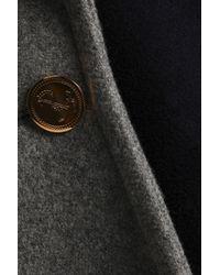 Thom Browne Black Asymmetric Draped Wool Coat