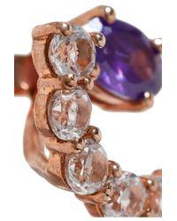 Aamaya By Priyanka - Multicolor Rose Gold-tone Crystal Earrings - Lyst