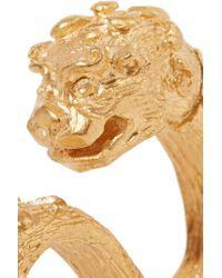 Valentino - Metallic Dog Gold-plated Three-finger Ring - Lyst