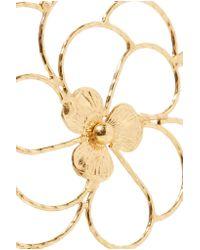 Carolina Bucci - Purple Camelia 18-karat Gold And Woven Silk Bracelet - Lyst