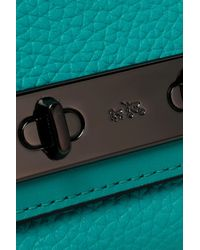 COACH - Blue Pebbled-leather Continental Wallet - Lyst