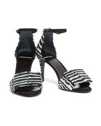 Pierre Hardy Black Bow-embellished Printed Nubuck Sandals
