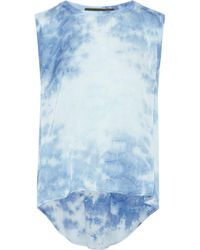 Enza Costa Woman Tie-dyed Jersey Top Light Blue