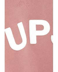 The Upside Pink Bondi Appliquéd French Cotton-terry Sweatshirt Antique Rose