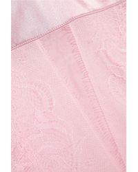 La Perla Merveille Lace-trimmed Modal-blend Nightdress Baby Pink