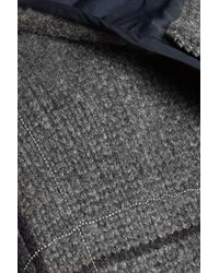 Brunello Cucinelli Chain-trimmed Printed Cashmere Hooded Jacket Dark Green