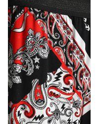 Just Cavalli White Printed Crepe Wide-leg Pants