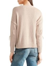 Madewell - Pink Tasseled Cotton Sweater Antique Rose - Lyst
