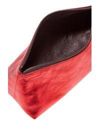 Ann Demeulemeester Metallic Textured-leather Clutch