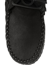Isabel Marant Black Étoile Eve Shearling-lined Leather Moccasin Boots
