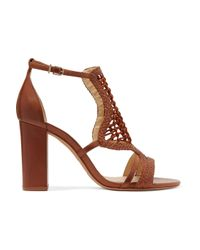 Alexandre Birman - Brown Marinah Woven Suede And Leather Sandals - Lyst