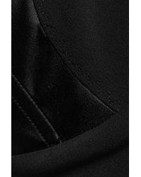 Stella McCartney Black Ines Stretch-cady Gown