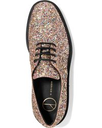 Giuseppe Zanotti Multicolor Glittered Leather Brogues
