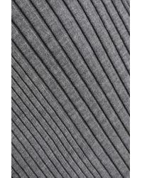 Maison Margiela Gray Ribbed Wool Dress