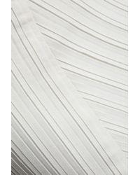 Victoria, Victoria Beckham White Pleated Crepe Mini Skirt
