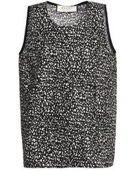 Marni - Woman Printed Cotton-poplin Top Black Size 44 - Lyst