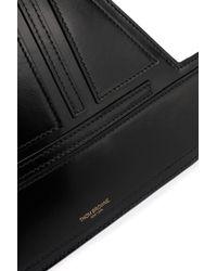 Thom Browne Black Sailboat Coated-leather Clutch