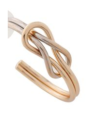 Kenneth Jay Lane Metallic Gold And Rhodium-plated Hoop Earrings Gold