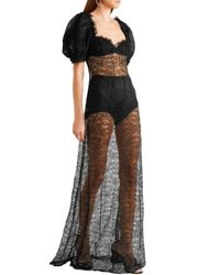 Brock Collection Doda Chantilly Lace Gown Black
