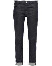 Rag & Bone Blue Mid-rise Slim-leg Jeans Dark Denim