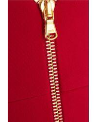 Cushnie et Ochs - Red Zip-detailed Stretch-cady Gown - Lyst