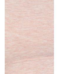 Commando Mélange Stretch-cotton Sports Bra Pastel Pink