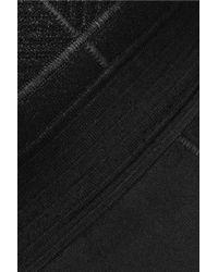 Just Cavalli Black Coated Jacquard-knit And Ribbed-knit Mini Dress