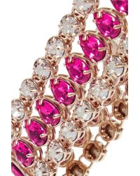 Valentino Pink Gold-plated Crystal Bracelet