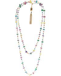 Rosantica Metallic Rosarietto Gold-dipped Beaded Necklace