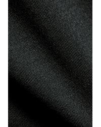 Theory Black Twylina Split-back Merino Wool Sweater