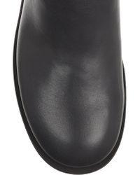 Jil Sander Navy Black Leather Knee Boots