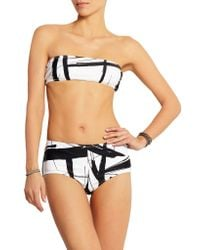 Norma Kamali - White Printed Bandeau Bikini Top - Lyst