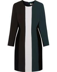 Stella McCartney - Blue Oona Color-block Cotton-blend, Crepe And Velvet Dress - Lyst