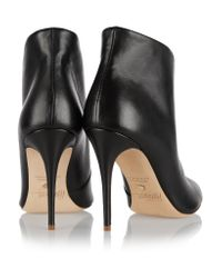 Jerome C. Rousseau Black Zumback Leather Ankle Boots