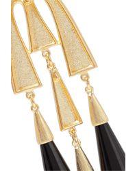 Ben-Amun Metallic Gold-tone Resin Earrings Gold