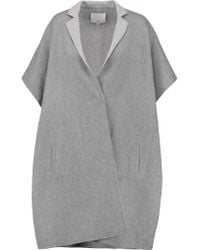 Tibi | Gray Wool And Angora-blend Coat | Lyst