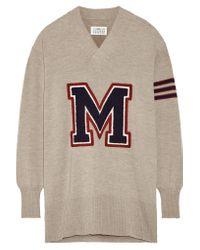 Maison Margiela Multicolor Appliquéd Wool Sweater