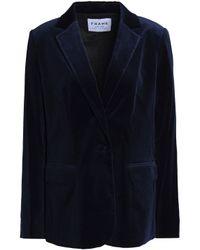 FRAME Blue Le Velvet Mod Blazer