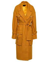 Mother Of Pearl Multicolor Weston Faux Pearl-embellished Wool-blend Felt Coat