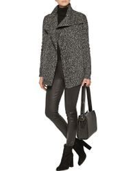 Theory - Gray Winxie Wool And Cotton Blend Cardigan - Lyst