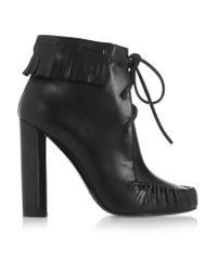 Tom Ford | Black Santa Fe Fringed Leather Ankle Boots | Lyst